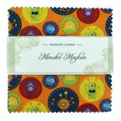 Fabric Freedom Monster Mayhem Freedom Charm, 100% Cotton, Multicoloured, 13 x 13 x 1.5 cm
