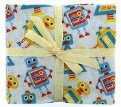Fabric Freedom Robots Fat Quarter Bundle, 100% Cotton, Multicoloured, 13 x 13 x 2 cm