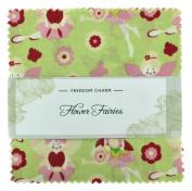 Fabric Freedom Flower Fairies Green Freedom Charm, 100% Cotton, Multicoloured, 13 x 13 x 1.5 cm