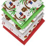 Fabric Freedom Pirates White Fat Quarter Bundle, 100% Cotton, Multicoloured, 13 x 13 x 2 cm