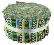Fabric Freedom Construction Green Freedom Roll, 100% Cotton, Multicoloured, 13 x 13 x 7 cm