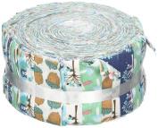 Fabric Freedom Woodland Blue Freedom Roll, 100% Cotton, Multicoloured, 13 x 13 x 7 cm
