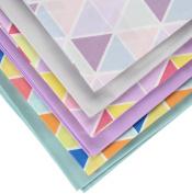 Fabric Freedom Geometric Fat Quarter Bundle, 100% Cotton, Multicoloured, 13 x 13 x 2 cm