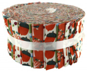 Fabric Freedom Woodland Orange Freedom Roll, 100% Cotton, Multicoloured, 13 x 13 x 7 cm