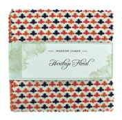Fabric Freedom Heritage Floral Freedom Charm, 100% Cotton, Multicoloured, 13 x 13 x 1.5 cm