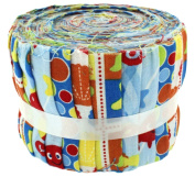 Fabric Freedom Under the Sea Mid Blue Vjelly Baby Roll, 100% Cotton, Multicoloured, 9 x 9 x 7 cm