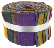 Fabric Freedom K33 Natures Seasons Jelly Baby Roll, 100% Cotton, Multicoloured, 9 x 9 x 7 cm