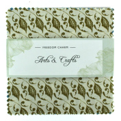 Fabric Freedom Arts and Crafts Green Freedom Charm, 100% Cotton, Multicoloured, 13 x 13 x 1.5 cm