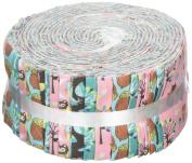 Fabric Freedom Woodland Pink Freedom Roll, 100% Cotton, Multicoloured, 13 x 13 x 7 cm