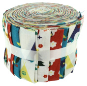 Fabric Freedom Camping Brights Jelly Baby Roll, 100% Cotton, Multicoloured, 9 x 9 x 7 cm
