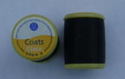 Coats Glace Sewing Thread - 250mtrs 100% Cotton in Black