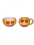 Heart Eyes Emoji Bowl & Mug Set