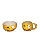 Winking Emoji Bowl & Mug Set