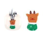 Christmas Knife and Fork Bag,VNEIRW Xmas Party Spoon Cutlery Holder Tableware Pockets Decor Bag