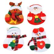 Souarts Kitchen Cutlery Suit Holders Pockets Forks Bag Set Christmas Decoration