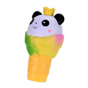 Asdomo Slow Rising Squishies Jumbo Panda Ice Cream Squishy Cream Scented Christmas Animals Soft Toys Party Favours Xmas Gift for Kids and Babies,19CM