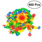 TOYMYTOY Snowflakes Blocks Kids Building Construction Toys DIY Blocks Educational Toy 400PCS