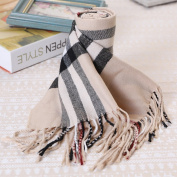 Autumn and Winter Children's Scarves Boys and Girls Plaid Scarf in the Children's Children Baby Imitation Cashmere Scarves
