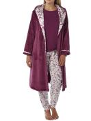 Ladies Woodland Cuddleskin Lining Fleece Hooded Robe