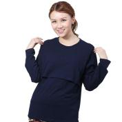Saihui Pregnant Maternity Clothes Nursing Tops Breastfeeding Long Sleeve T-Shirt