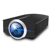 Video Projector, MEER 1600 Lumens 130'' Wide Screen LED Portable Projector with Built-in Speaker for Home Entertainment Outside Movies Games Support iPad/iPhone /Smartphone/Laptop/Firestick/SD/USB