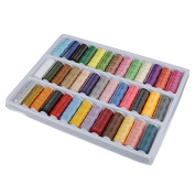 39 Rolls Assorted Colour Spools Cotton Thread For Sewing Hand Machine