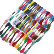 Cheap4uk Stranded Deal Embroidery Thread, 100% Cotton, Assorted Coloured Skeins pack of 25