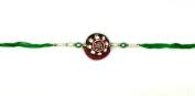 Traditional Swastik Design and Beading – Rakhi Thread/Rakhi Bracelet/Bhaiya Series