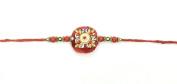 Simple Round Stone Design and Beading – Rakhi Thread/Rakhi Bracelet/Bhaiya Series