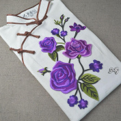 IGEMY Flowering Roses Applique Clothing Embroidery Patch Sticker Iron Sew Cloth DIY