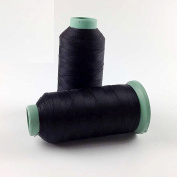 Black Polyester Sewing Thread High Tenacity 2000 Yard for the Upholstery, Outdoor Market, Drapery, Beading, Luggage, Purses