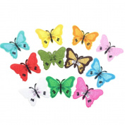 Rcool 10PCS DIY Butterfly Embroidered Patches Iron On Stitching Lace Label Clothing Supplies Crafts Trim