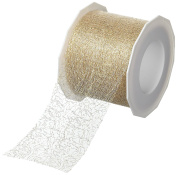 Prasent Metallic Lace Ribbon, Gold