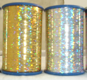 2 x Spools of Holographic LUREX Premium Threads 1 Gold + 1 Silver 2500 Metres Each Spool Size 1/32
