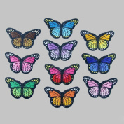 IGEMY 10PC New Colour Butterfly Collar Sew Patch Applique Badge Embroidered