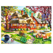 Jamicy DIY 5D Embroidery Paintings Rhinestone Pasted Cross Stitch Home Decor
