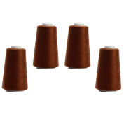 4 x 3000 Yds 2743.2 M/Cones Overlockgarn – 12.000 Yds 10972.8 M – 26 Colours To Choose From, 262 - Braun