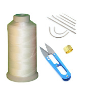 Bonded Nylon Sewing Thread, Curved Needles, Scissors and Thimble Tools Kits