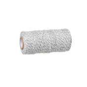 Creafirm - 100m reel of string Baker's style twine grey and white