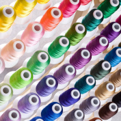Simthreads 63 Brother Colours Polyester Embroidery Thread, 550 Yrds Each