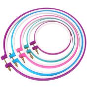 Soledi Embroidery Hoops 5pcs Cross Stitch Hoops Embroidery Ring Quilting Tambour Embroidery Circle Kits 12cm to 27cm