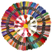 Soledi Cross Stitch Floss 150 SkeinsPremium Rainbow Colour Embroidery Floss Sewing Threads