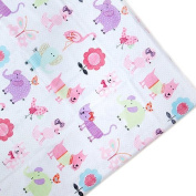 Children's Polycotton 1 Metre Printed Material Arts & Crafts Sewing Tailoring Fabric - Cute Pets