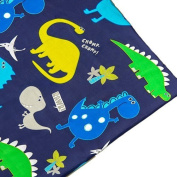 Children's Polycotton 1 Metre Printed Material Arts & Crafts Sewing Tailoring Fabric - Dino in the Dark