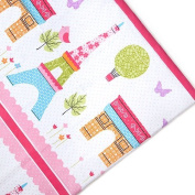 Children's Polycotton 1 Metre Printed Material Arts & Crafts Sewing Tailoring Fabric - Paris