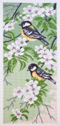 Duftin PA1054 Tits Count Aida with Multi-Coloured Floral Printed Cotton Embroidery 47 x 24 x 0.1 cm