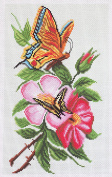 Duftin PA1065 Count Aida Butterflies with Multi-Coloured Print Cotton Embroidery Design 28 x 37 x 0.1 cm