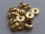 KosiKrafts 20 Large Gold Coloured Plastic Blazer / Jacket / Coat Buttons