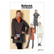 Butterick Patterns Butterick Pattern 6394 Y Misses Coat, Multicoloured, Sizes XSM-MED
