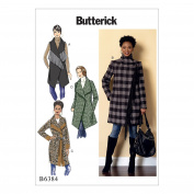 Butterick Patterns Butterick Pattern 6384 Y Misses Coat and Belt, Multicoloured, Sizes XSM-MED